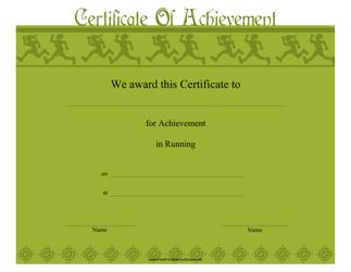 """Running Certificate of Achievement Template"""