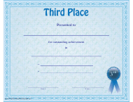 """Third Place Certificate Template"""