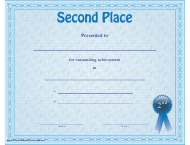 """Second Place Certificate Template"""