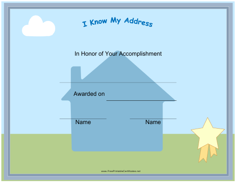 """Accomplishment Award Certificate Template"" Download Pdf"