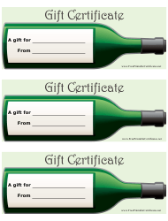 Wine Gift Certificate Templates