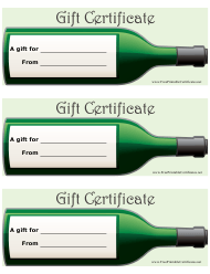 """Wine Gift Certificate Templates"""