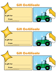 """""""Car Wash Gift Certificate Templates"""""""