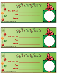 """""""Christmas Gift Certificate Templates"""""""