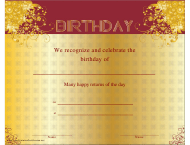 """Birthday Certificate Template"""