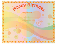 """Happy Birthday Certificate Template"""