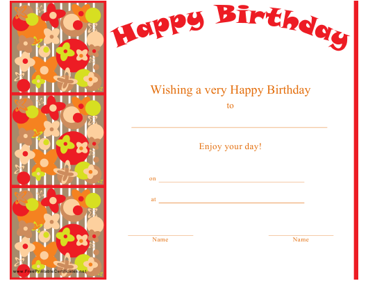 """Happy Birthday Certificate Template"" Download Pdf"