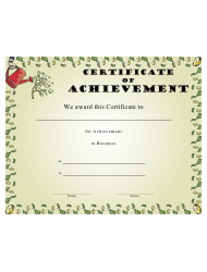 Business Certificate of Achievement Template