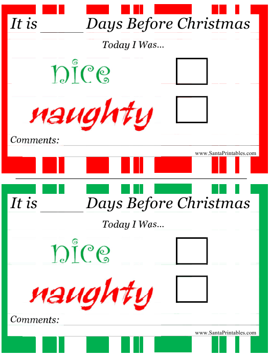 """Nice or Naughty Christmas Certificate Template"" Download Pdf"