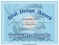 """Boat Design Award Certificate Template"""