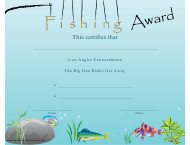 """Fishing Award Certificate Template"""