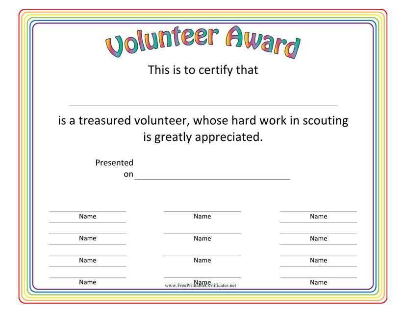 volunteer award certificates top result 70 lovely volunteering