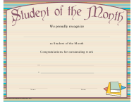 """Student of the Month Certificate Template"""