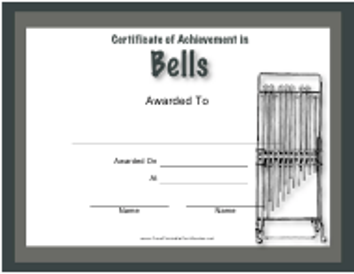 """Certificate of Achievement in Bells Template"""