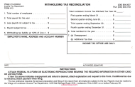 """Form W-3 """"Withholding Tax Reconciliation"""" - Village of Lordstown, Ohio"""