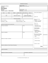 """Vehicle Invoice Template"""