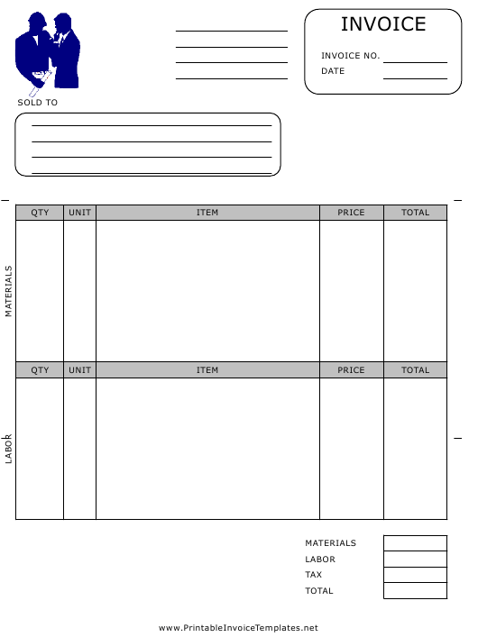 """Civil Engineer Invoice Template"" Download Pdf"