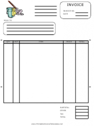 Cleaner Invoice Template