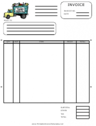 Invoice Template With Trash Removal Truck