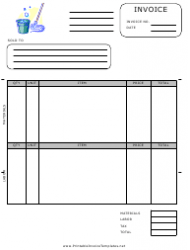 Housekeeping Invoice Template