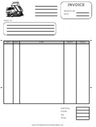 Hauling Invoice Template