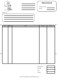 Maid Service Invoice Template