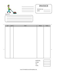 Floor Service Invoice Template