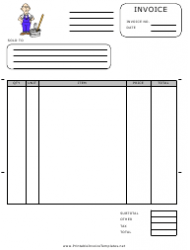 Cleaning Services Invoice Template