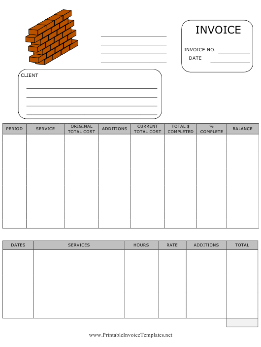 """Building Invoice Template"" Download Pdf"