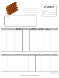 Building Invoice Template
