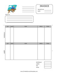 Home Repair Invoice Template Download Printable PDF