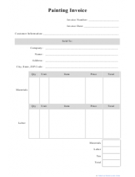 Painting invoice template download printable pdf templateroller painting invoice template maxwellsz