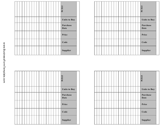 """""""Inventory Management Card Templates"""" Download Pdf"""