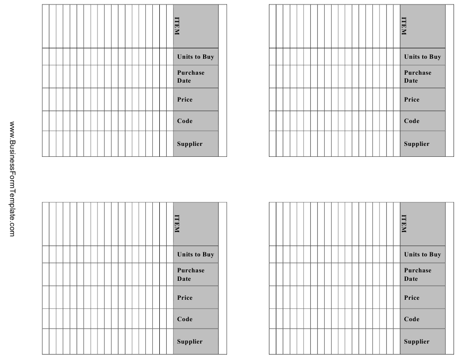 Inventory Management Card Templates Download Printable PDF ...