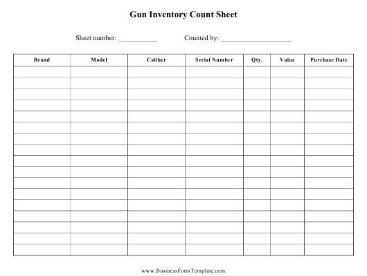 This is a picture of Inventory Sheets Printable within organizing