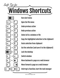 Windows Shortcuts Cheat Sheet