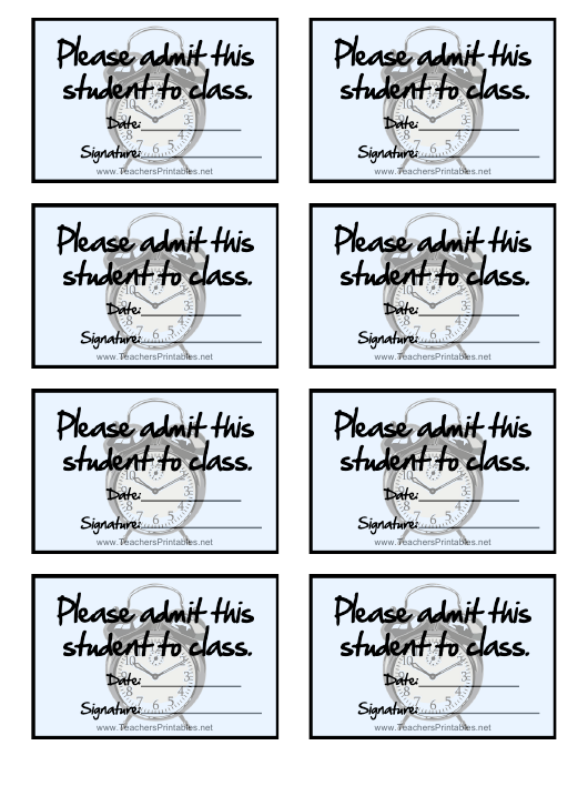 """""""Class Admission Card Templates"""" Download Pdf"""