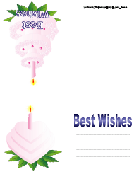 """Best Wishes Greeting Card Template"""