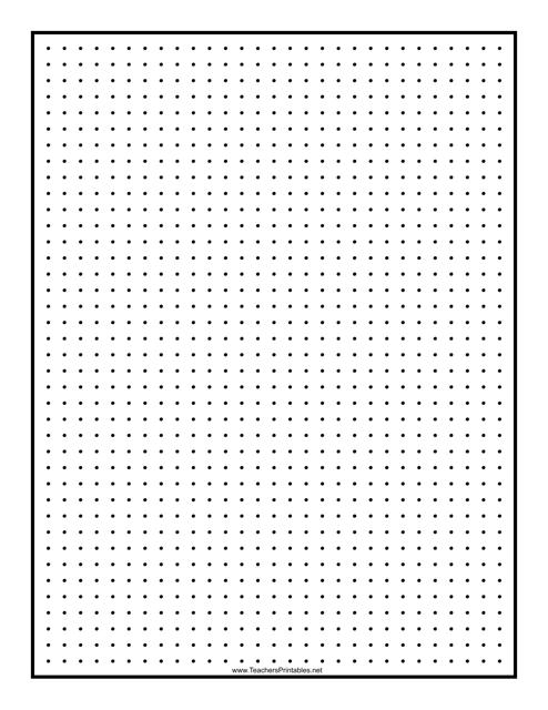 """Black 0.25 Inch Dot Graph Paper Template"" Download Pdf"