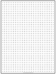 Black 0,25 Inch Dot Graph Paper Template