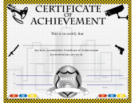"""Certificate of Achievement Template for Meritorious Service"""