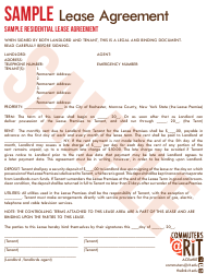 Residential Rental Agreement Templates Pdf Download Fill