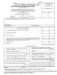 Net Profits License Fee Return Form - City of Springfield, Kentucky