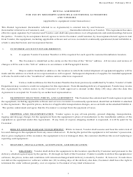 """""""Rental Agreement Template for Use by Mississippi Agencies & Governing Authorities and Vendors (Applicable to Equipment Rental Transactions)"""" - Mississippi"""
