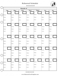 Rehearsal Schedule Monthly Template