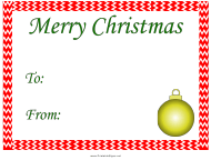 """Merry Christmas Gift Tag Template"""