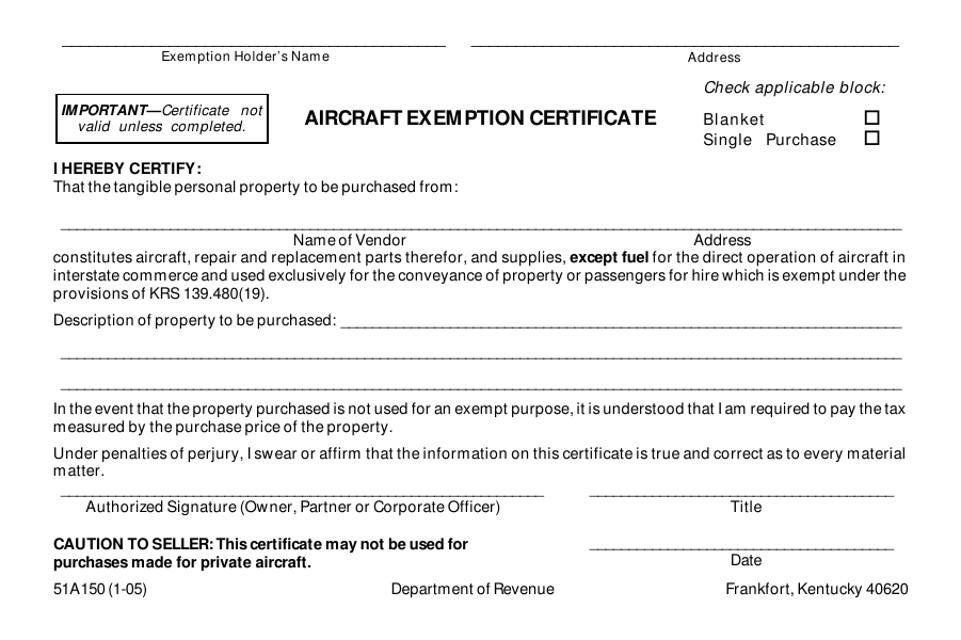 Form 51A150 Printable Pdf
