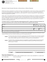 "Form FTB3816 ""Electronic Funds Transfer Election to Discontinue or Waiver Request"" - California"