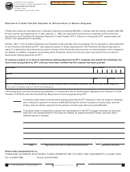 Form FTB 3816 Electronic Funds Transfer Election to Discontinue or Waiver Request - California