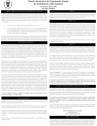 """Instrucciones para Formulario 480.7 """"Planilla Informativa De Organizacion Exenta De Contribucion Sobre Ingresos"""" - Puerto Rico (Puerto Rican Spanish)"""